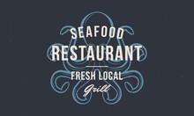 Octopus Vintage Logo. Seafood ...