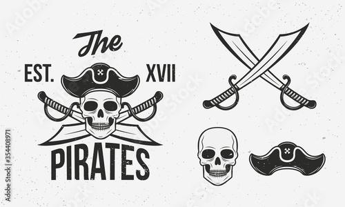 Fotografía Pirates icons set