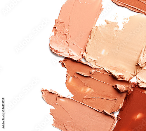 Fotografiet Makeup foundation strokes isolated on white background