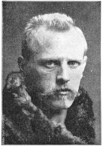 Portrait of Fridtjof Nansen - a Norwegian explorer, scientist, diplomat, humanitarian and Nobel Peace Prize laureate Canvas