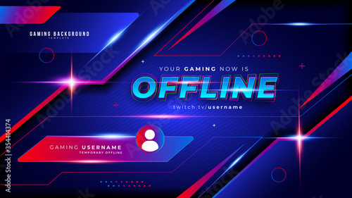 Fototapeta Abstract Futuristic Gaming Background for Offline Twitch stream obraz