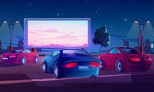 Car Street Cinema. Drive-in Th...