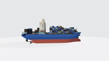 3D Rendering Of A Boat Transpo...
