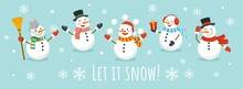 Let It Snow Card With Cute Cha...