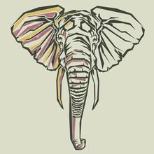 Illustration Of Pop Art Elephant