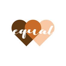 Equal Heart Vector Illustratio...