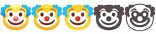 Clown Emoji. Funny Yellow Face...