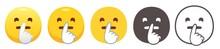 Shushing Emoji. Hush, Quiet Ye...