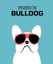 Cute Cartoon French Bulldog. H...