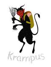 Vector Illustration Of Krampus
