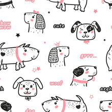 Seamless Vector Pattern With H...
