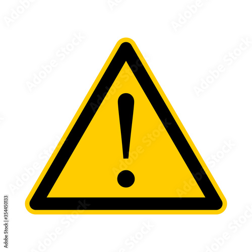 Triangular Warning or Attention Sign. Vector Image. Fototapete