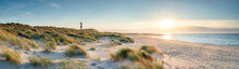 Panoramic View Of A Dune Beach...