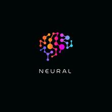 Neural Network Logo. Human Bra...