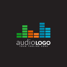 Sound Logo Concept Design Vector