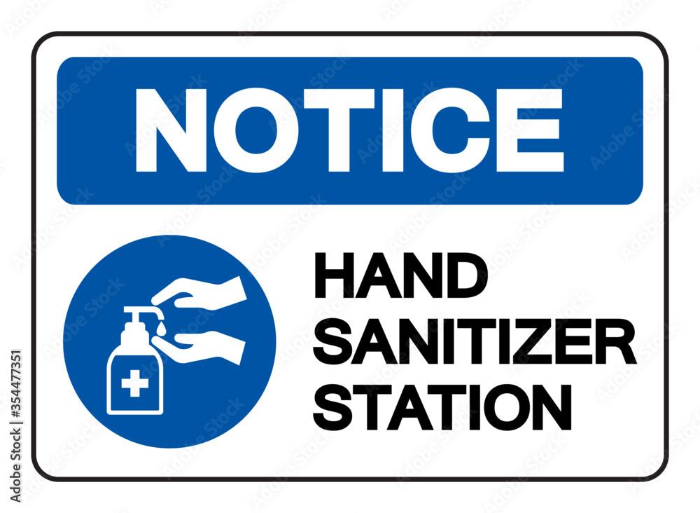 Fototapeta Hand Sanitizer Station Symbol Sign, Vector Illustration, Isolate On White Background Label. EPS10