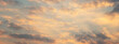Leinwandbild Motiv Beautiful sunset sky above clouds with dramatic light