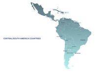 South American Countries Map. ...