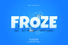 Froze And Cool Cube Text Effec...