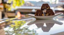 Chocolate Bars On A Plate