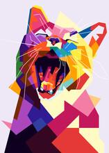 Pop Art Cat Illustration. Crea...