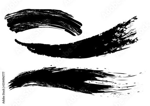 Carta da parati hand drawn of brush stroke for black ink paint