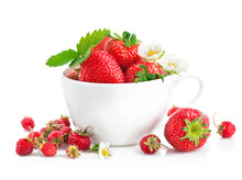 Fresh Strawberry In Cup With G...