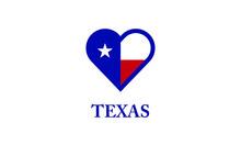 Texas Heart Flag Country Love ...