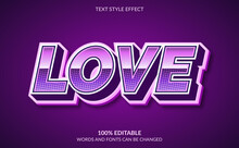 Editable Text Effect, Love Tex...