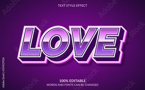 Vászonkép Editable Text Effect, Love Text Style