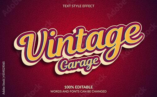 Cuadros en Lienzo Editable Text Effect, Classic Vintage Garage Text Style