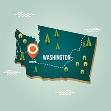 Washington Map With Capital City