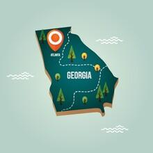 Georgia Map With Capital City