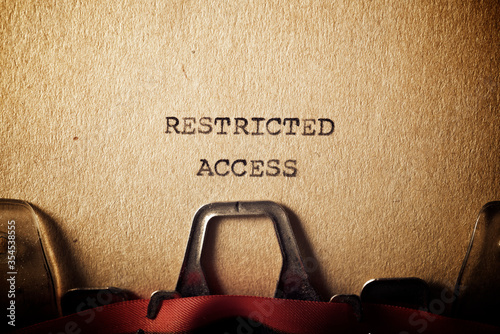 Restricted access text Canvas Print