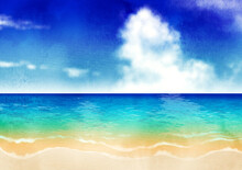 夏の海背景