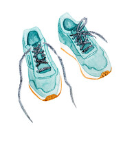 Sports Shoes Watercolor Style ...