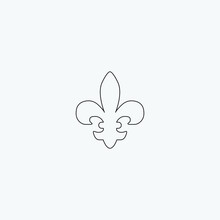Fleur De Lis Graphic Element Illustration Template Design
