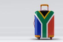 South Africa Flag On A Stylish...