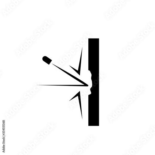 Papel de parede bulletproof material icon. vector