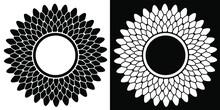 Black On White Round Rosette W...