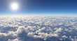 Leinwandbild Motiv above the clouds 2 (3D render)