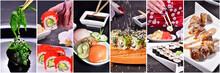 Sushi Ball Close-up On A Dark ...