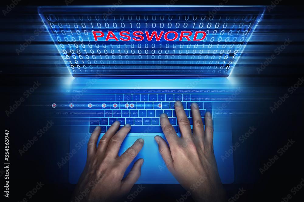 Fototapeta hacker tries to get a password