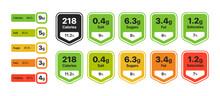 Food Value Infographic Set. La...