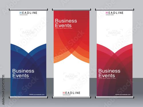 Fototapeta Business banner roll up set,standee banner template,Modern banner. obraz