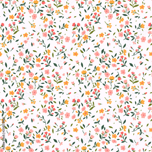 Canvas Print Cute floral pattern in the small flower