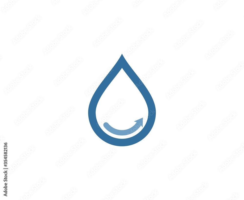 Fototapeta Water drop logo