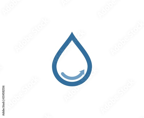 Vászonkép Water drop logo