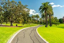 Walking Path Through The Footscray Park, Melbourne, Australia