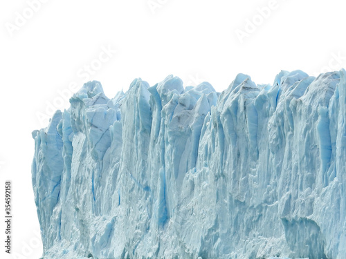 Part of a glacier isolated on white background Fototapet